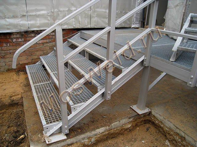 Лестницы из металла на веранду своими руками 26